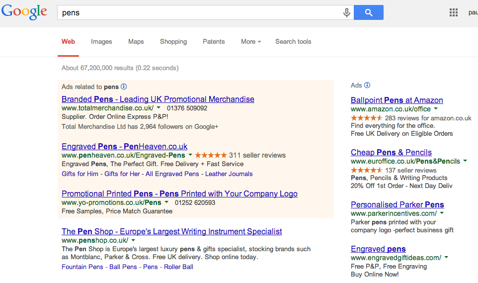 current-google-adwords-block