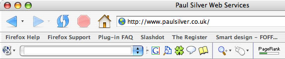 Firefox with PageRank indicator
