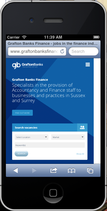 Screenshot of Grafton Banks Finance on an iPhone