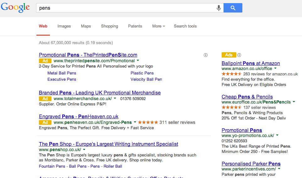 New 'Ads' next to Adwords adverts