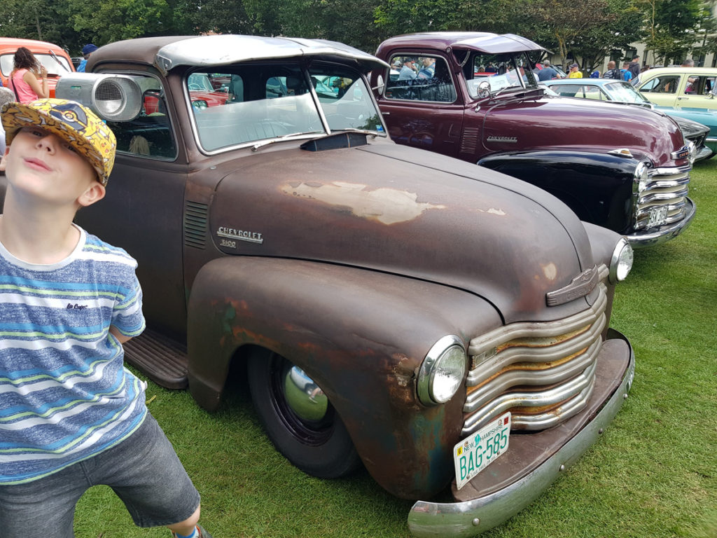 Tom and old Chevy pickups